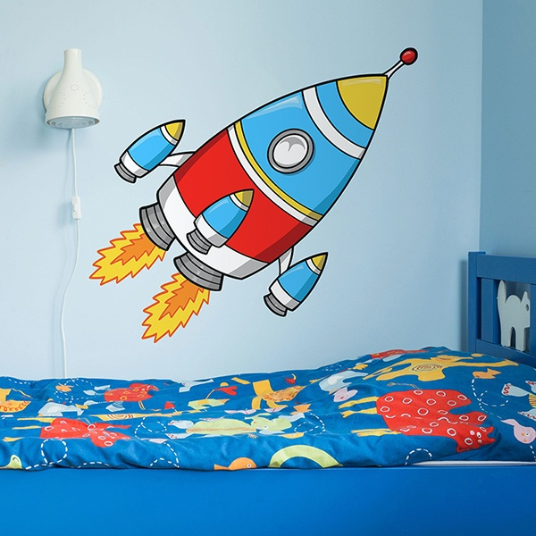 Stickers for Kids: Rocket to the moon