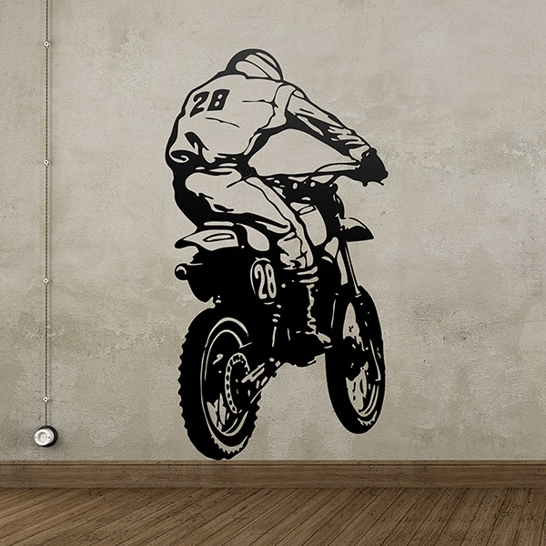 Wall Stickers: Motorcycle jump