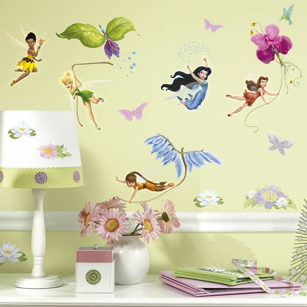 Stickers for Kids: Disney fairies with glitter