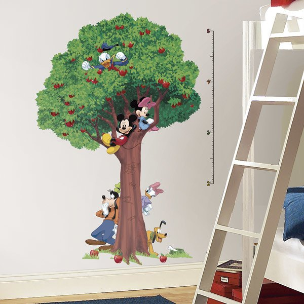 Stickers for Kids: Giant Tree Mickey and Friends Growth Chart