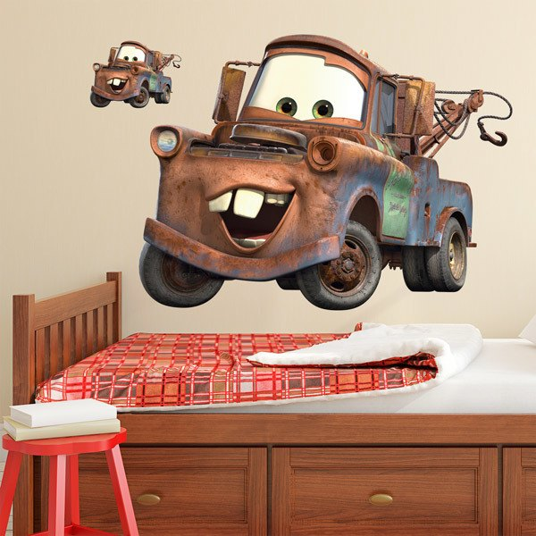 Stickers for Kids: Giant Mater Wall Sticker - Cars