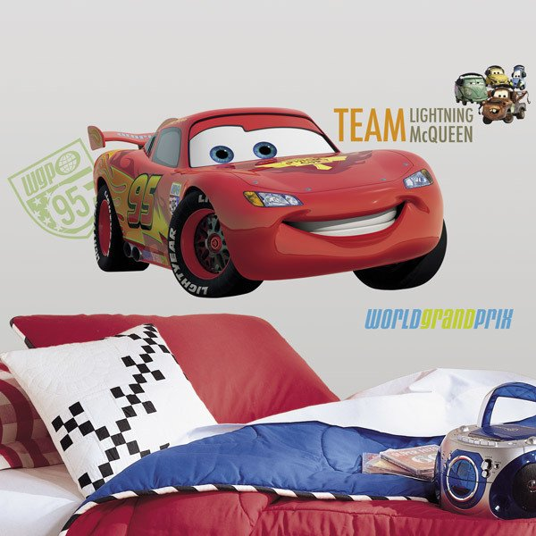 Stickers for Kids: Giant Lightning McQueen Wall Stickers