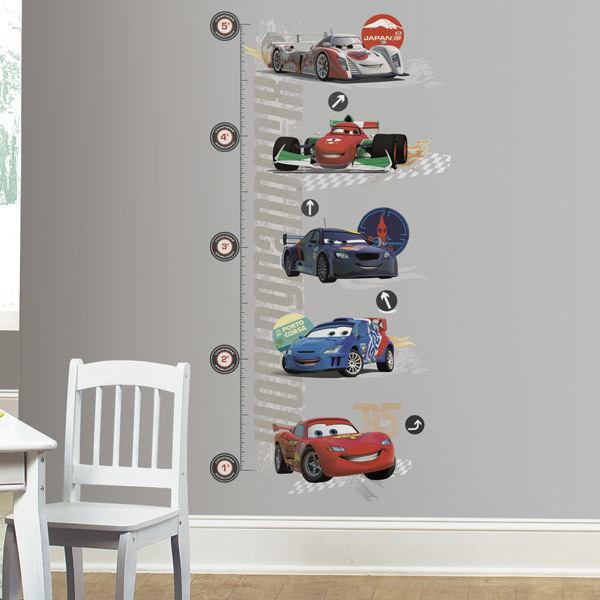 Stickers for Kids: Lightning Mcqueen Growth Chart Cars 2