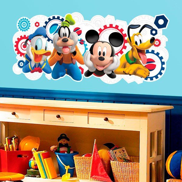 Stickers for Kids: The house of Mickey Mouse and his friends
