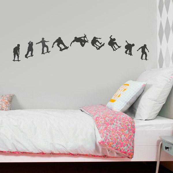 Wall Stickers: Sequence Skate Silhouettes
