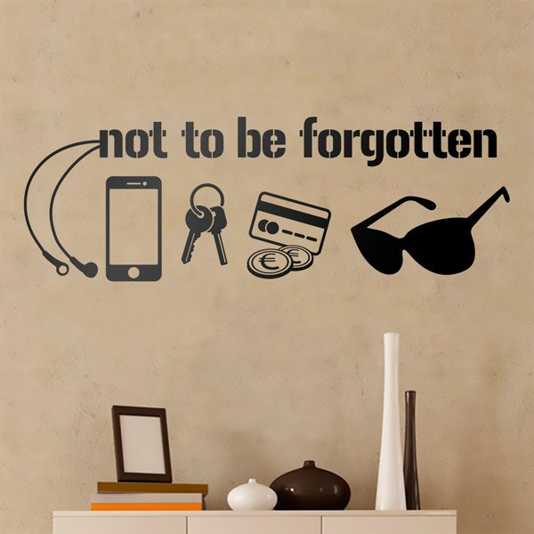 Wall Stickers: Not to be forgotten