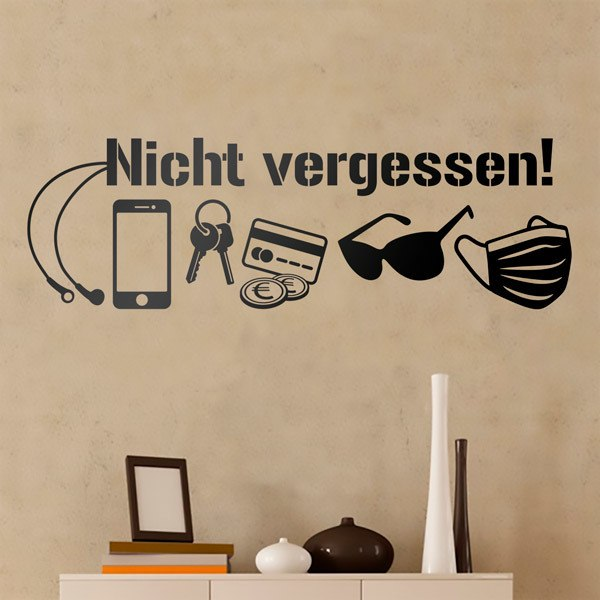 Wall Stickers: Catching before you leave home - German