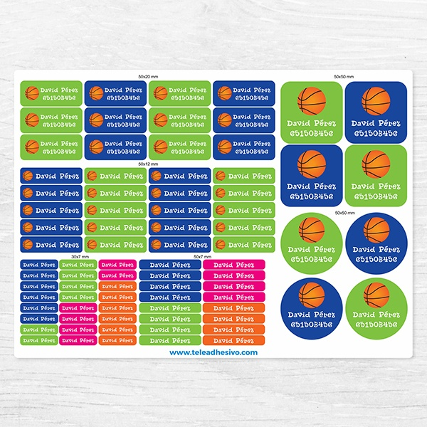 Car & Motorbike Stickers: Kit Labels Basketball