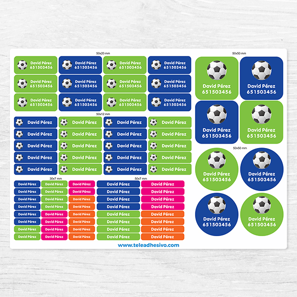 Car & Motorbike Stickers: Kit Labels Football