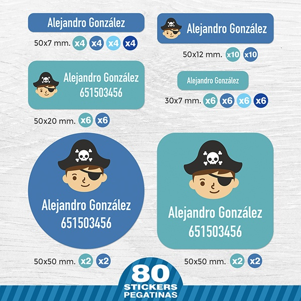 Car & Motorbike Stickers: Kit Labels Pirate Captain