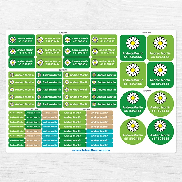 Car & Motorbike Stickers: Kit Labels Daisy flower