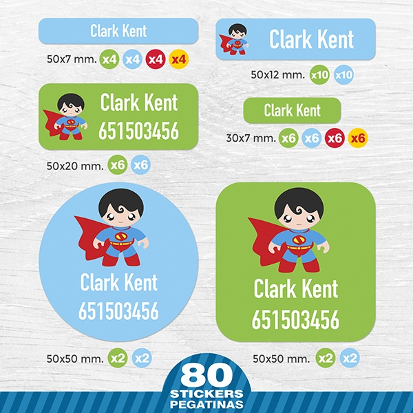Car & Motorbike Stickers: Kit Labels SuperMan