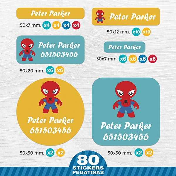 Car & Motorbike Stickers: Kit Labels Spiderman