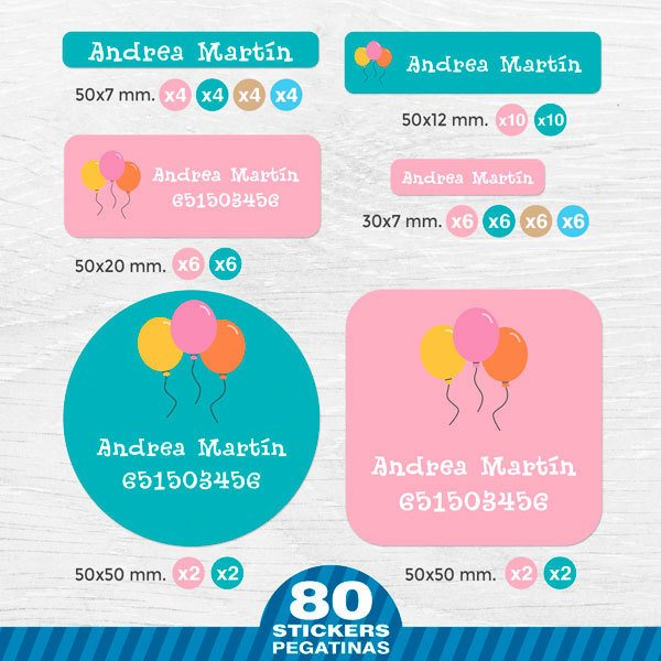 Car & Motorbike Stickers: Kit  Name labels balloons