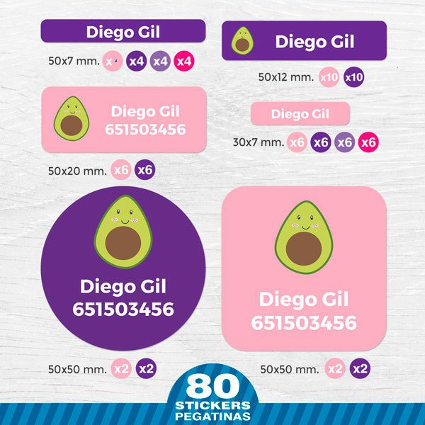 Car & Motorbike Stickers: Kit Name avocado