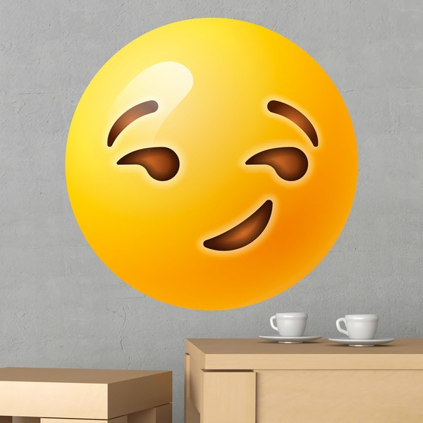 Wall Stickers: Smirking Face