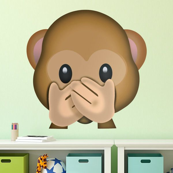 Wall stickers speak no evil monkey