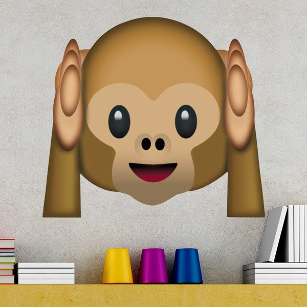 Wall Stickers: Hear-No-Evil Monkey