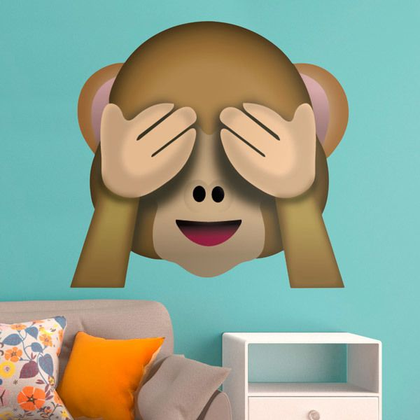 Wall stickers see no evil monkey