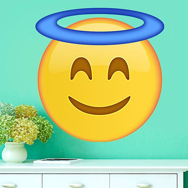 Wall Stickers: Smiling Face With Halo