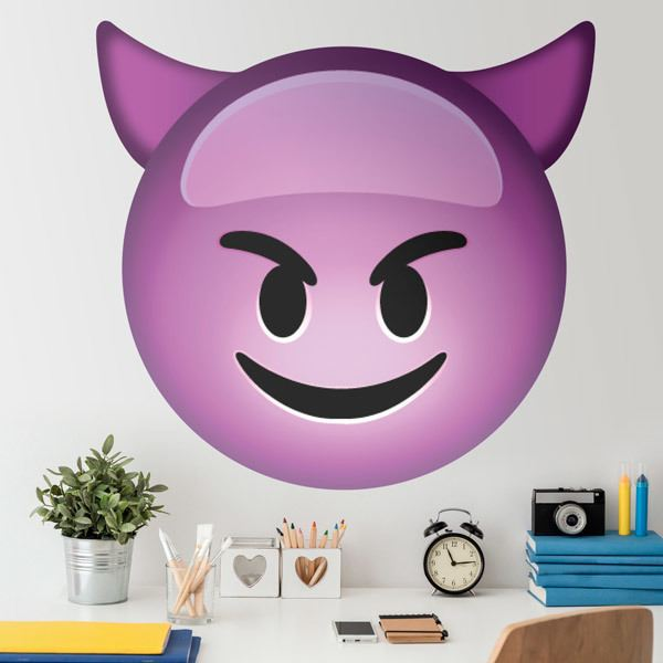 Wall Stickers: Smiling Face With Horns