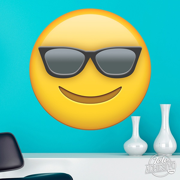 Wall Stickers: Smiling Face With Sunglasses