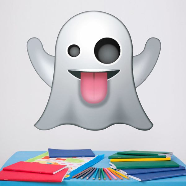 Wall Stickers: Emoji Ghost