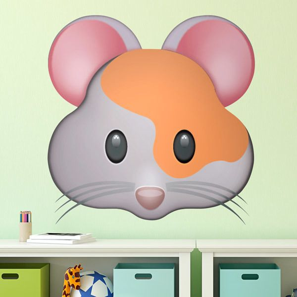 Wall Stickers: Hamster Face