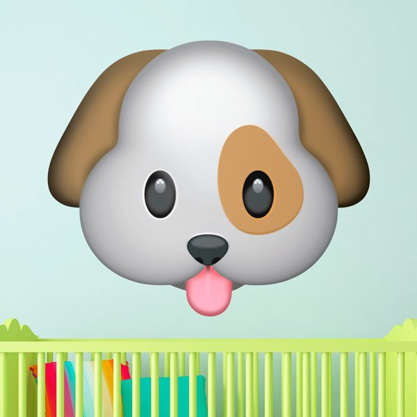 Wall Stickers: Dog face