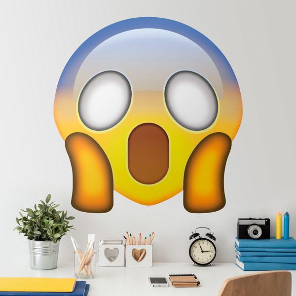 Wall Stickers: Face Screaming in Fear