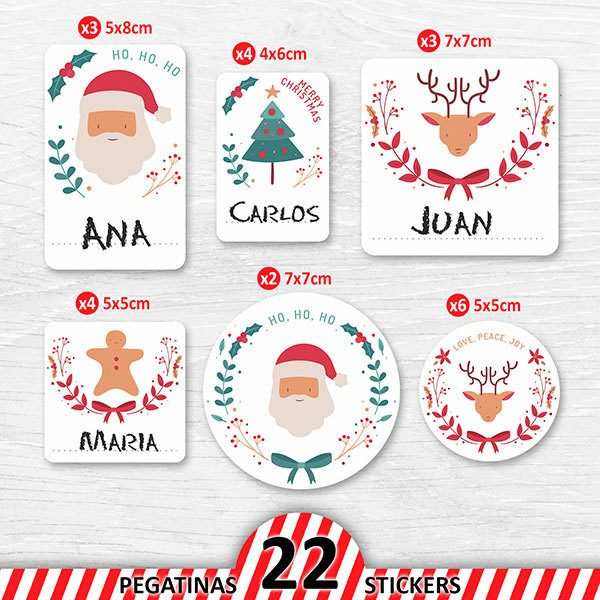 Car & Motorbike Stickers: Santa Claus Label Kit 1