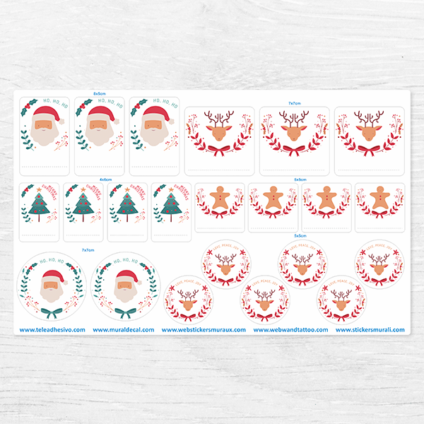Car & Motorbike Stickers: Santa Claus Label Kit 0