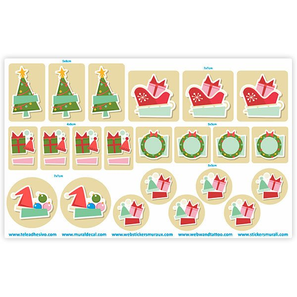 Car & Motorbike Stickers: Christmas Ornaments Label Kit