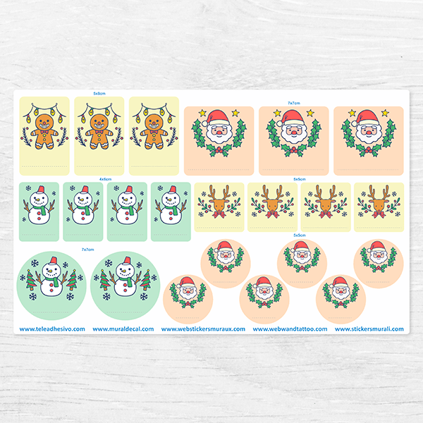 Car & Motorbike Stickers: Merry Christmas Label Kit