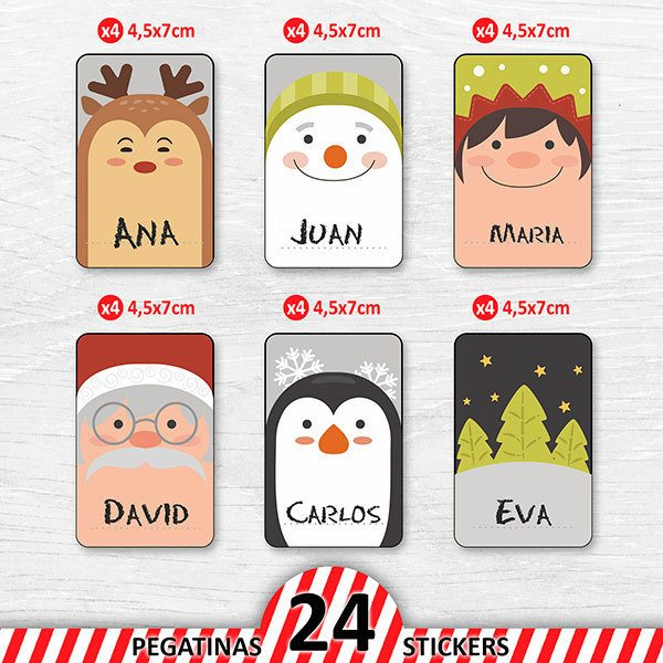 Car & Motorbike Stickers: Christmas Cards Label Kit 1