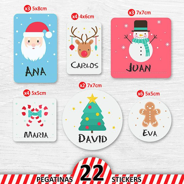 Car & Motorbike Stickers: Kit labels Christmas icons