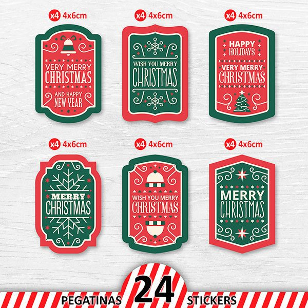 Car & Motorbike Stickers: Christmas Label Kit