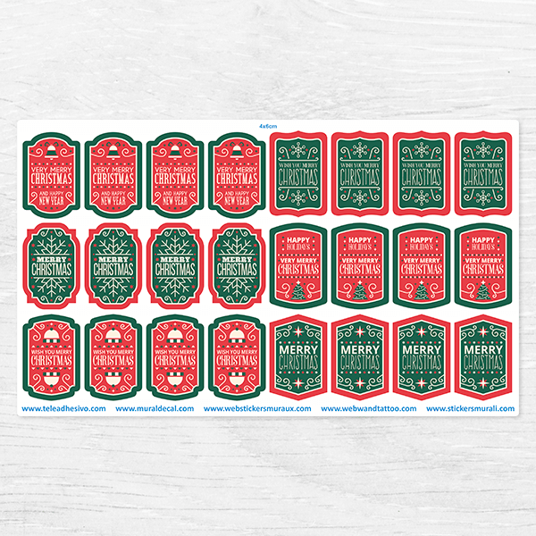 Car & Motorbike Stickers: Christmas Label Kit 0