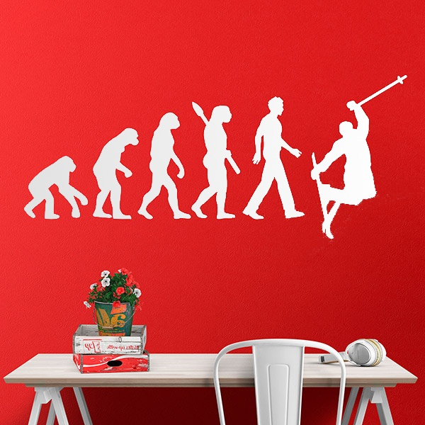 Wall Stickers: Ski evolution