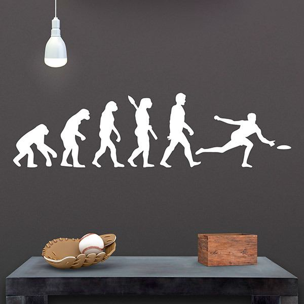 Wall Stickers: Frisbee evolution