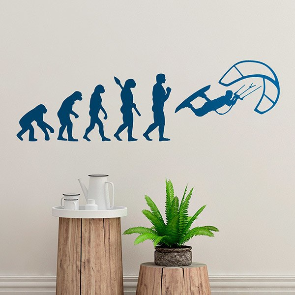 Wall Stickers: Kitesurf jumping evolution