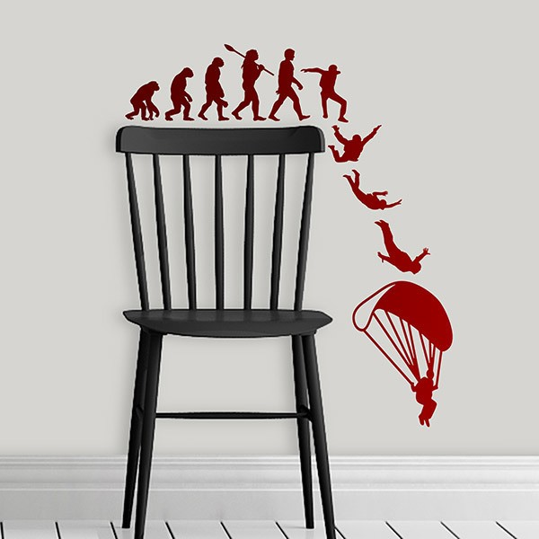 Wall Stickers: Evolution of parachuting