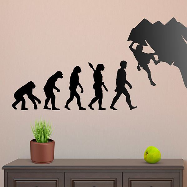 Wall Stickers: Climber evolution
