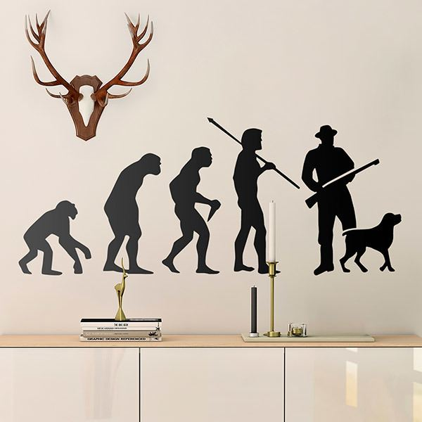 Wall Stickers: Evolution of hunting