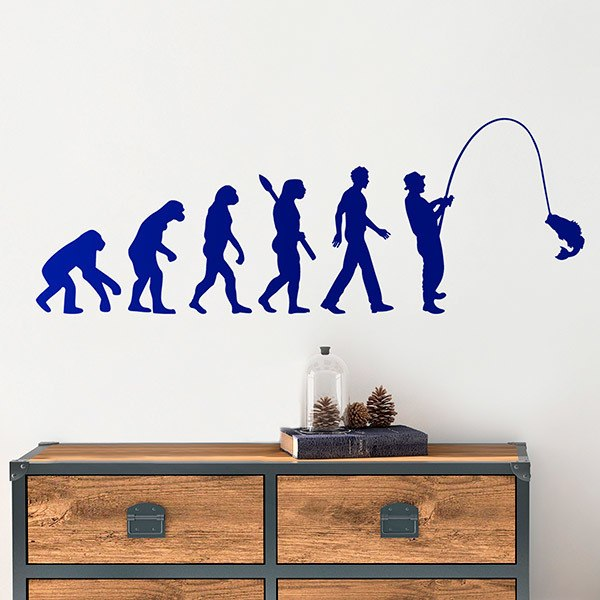 Wall Stickers: Sport fishing evolution