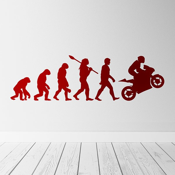 Wall Stickers: Motorcycling evolution
