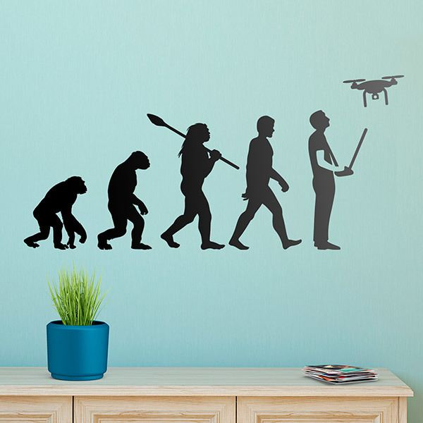 Wall Stickers: Dron evolution