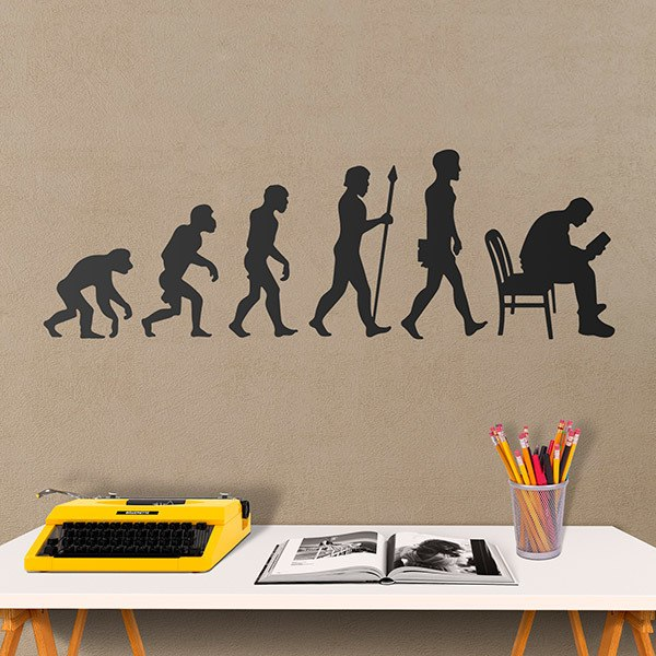 Wall Stickers: Evolution reading
