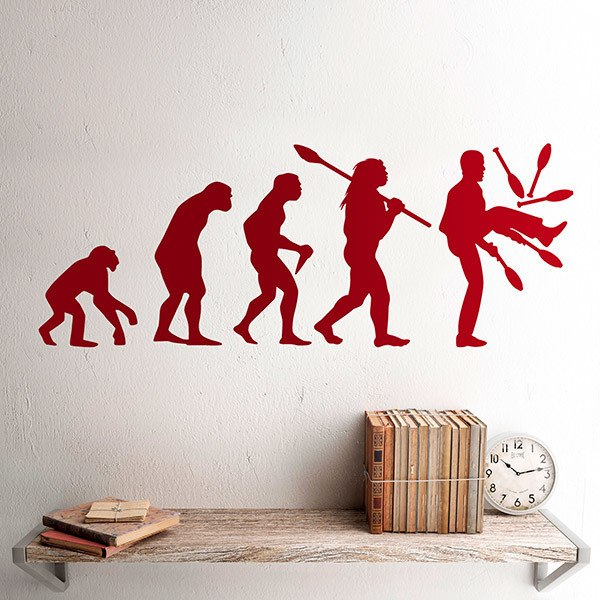 Wall Stickers: Evolution of juggling