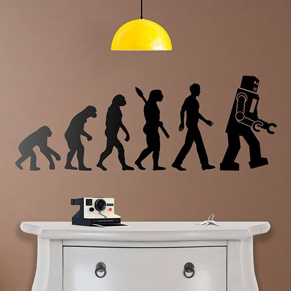 Wall Stickers: Robot evolution